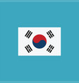 south korea flag icon in flat design vector image