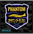 space batlle ship military chevron vector image vector image