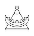 swing boat icon amusement park related line style vector image vector image