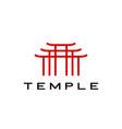 temple logo icon vector image vector image