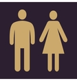 The man and woman icon Family symbol Flat vector image vector image
