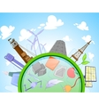 Type of renewable and not renewable energy vector image vector image