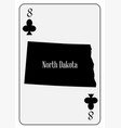 usa playing card 8 clubs vector image