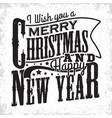 vintage christmas lettering vector image vector image