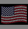 waving american flag stylized composition of uncle vector image