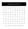 weather icon set with outline design vector image vector image