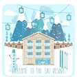 Welcome to the ski resort banner vector image vector image