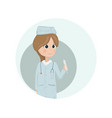 woman doctor or nurse vector image vector image