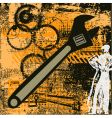 grunge engineering vector image