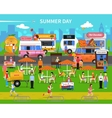 Summer Day Background vector image