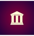 Bank icon Modern design flat style icon vector image