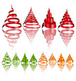 3d christmas tree icon vector image vector image