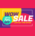 advertising sale banner design with colorful vector image vector image