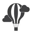 aeronautics balloon icon vector image vector image