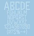 alphabet numbers made plastic bubbles vector image