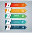 arrow infographic concept with 5 options vector image