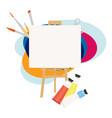 art studio creative workshop design salon for vector image