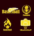 Backketball logo design vector image vector image