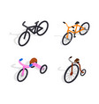 bicycle set for family ride vector image vector image