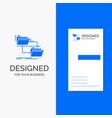 business logo for folder file management move vector image vector image