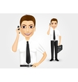 business man talking on the phone vector image