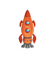 cartoon space ship launch with porthole windows vector image vector image