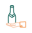 champagne bottle icon vector image vector image
