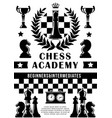 chess academy sport game vector image