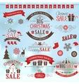christmas sale design set - labels emblems vector image vector image