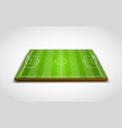 clear green football or soccer field vector image vector image