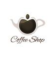 coffee shop logo template vector image vector image