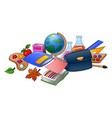 collection of school supplies vector image