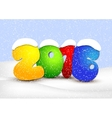 Design New Year cards Winter landscape vector image
