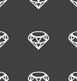 Diamond Icon sign Seamless pattern on a gray vector image vector image