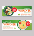 Discount voucher template with thai food