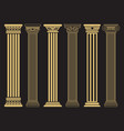 elegant classic roman greek architecture line and vector image vector image