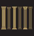 elegant classic roman greek architecture line vector image vector image