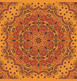 ethnic seamless pattern with floral ornament