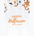 festive flyer with treats for halloween vector image vector image