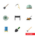 flat icon dacha set of barbecue cutter hosepipe vector image vector image