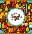 flat thanksgiving day postcard vector image vector image