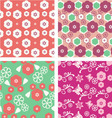 floral pattern seamless blossom cherry vector image