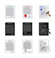 form and document symbol vector image vector image