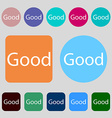 Good sign icon 12 colored buttons Flat design vector image