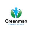 Green Man Design vector image vector image