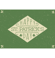 hand drawn st patricks day greeting card design vector image vector image