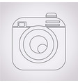 hipster camera photo icon vector image vector image