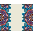 indian doodle boho floral borders vector image vector image