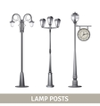 Lamp Post Set vector image