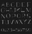latin cartoon doodle alphabet vector image vector image